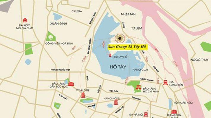 Vị trí sun group grand city Tây Hồ