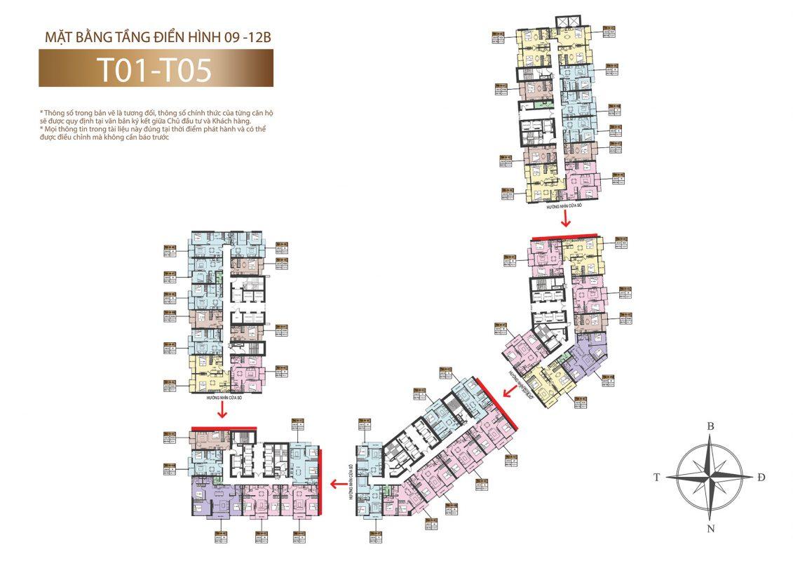 Tầng 9 - 12b Sun marina town