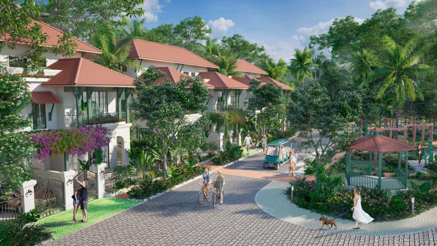 biệt thự song lập Sun Tropical Village